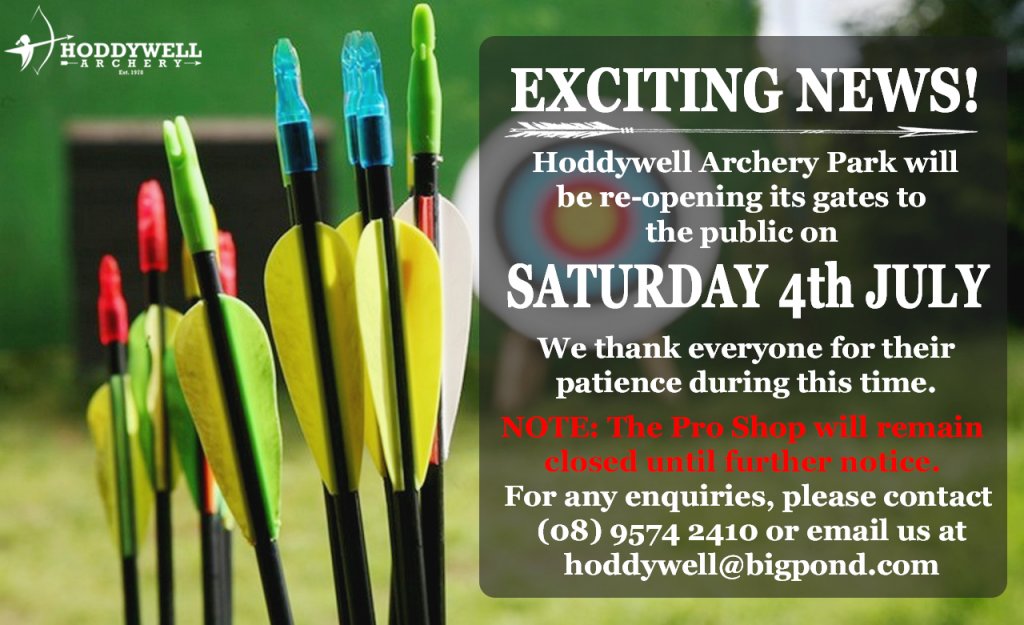 Hoddywell Archery Park is open!